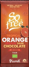 Plamil Organic Dairy Free Tropical Orange Dark Chocolate 80g